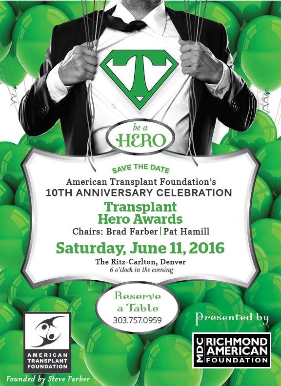Transplant Hero Awards Denver Gala - Digital Invite