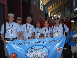 Team Rocky Mountains at the Transplant Games July 2012