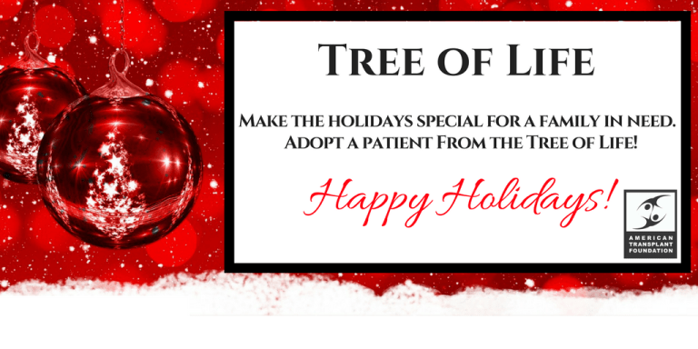 Tree of life 2017 american transplant foundation the american transplant foundation is again helping bring cheer this holiday season to the families of transplant patients in need m4hsunfo